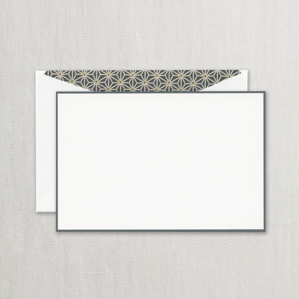 BOXED NOTE CARDS - CCO - CHARCOAL BORDERED CARD