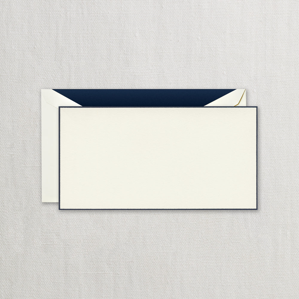 BOXED NOTE CARDS - CCO - MONARCH NAVY BORDERED CARD