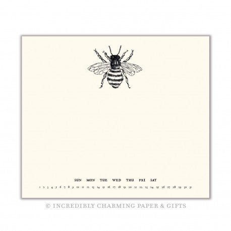 NOTE PAD - BFS- BEE WITH DAYS OF WEEK