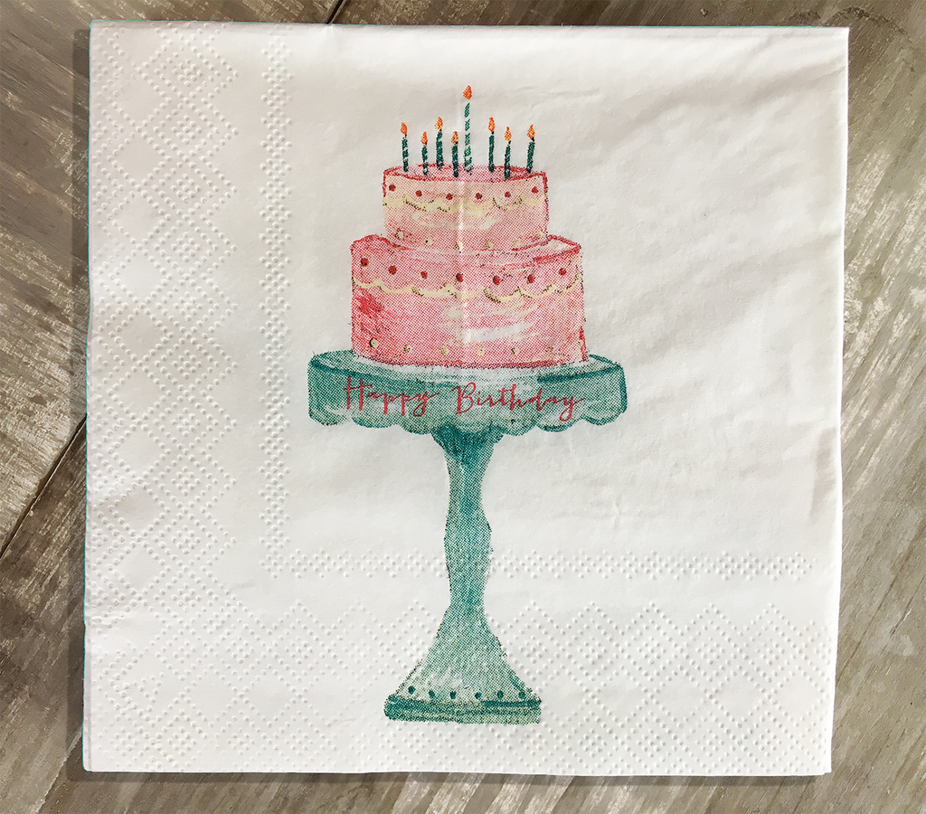 NAPKINS - TLD - HAPPY BIRTHDAY CAKE