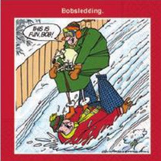 CHRISTMAS NAPKINS - DD- BOBSLEDDING