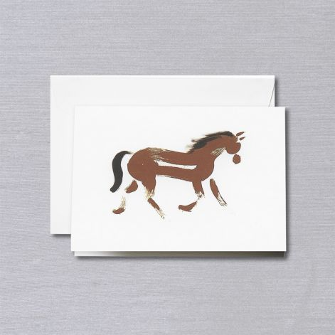 BOXED NOTE CARDS - CCO - BRUSHSTROKE HORSE FOLDOVER