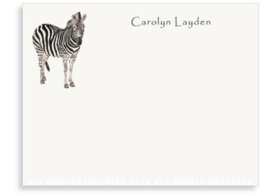BOXED NOTE CARDS - LB - ZEBRA