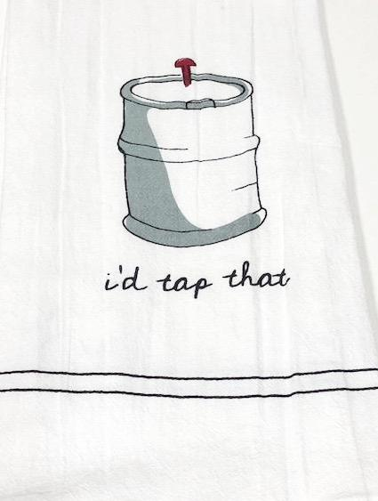 BAR TOWEL - CP - I'D TAP THAT