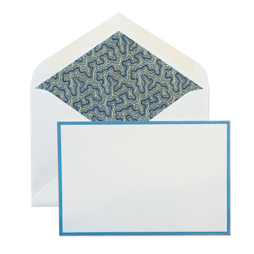 BOXED NOTE CARDS - D&C - DERIAN BLUE CORAL
