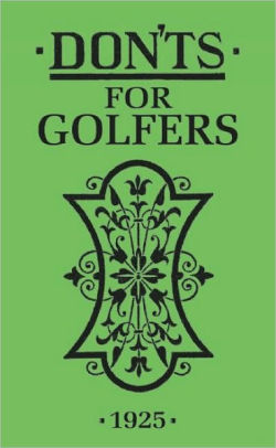 BOOK - BFS - DON'TS FOR GOLFERS