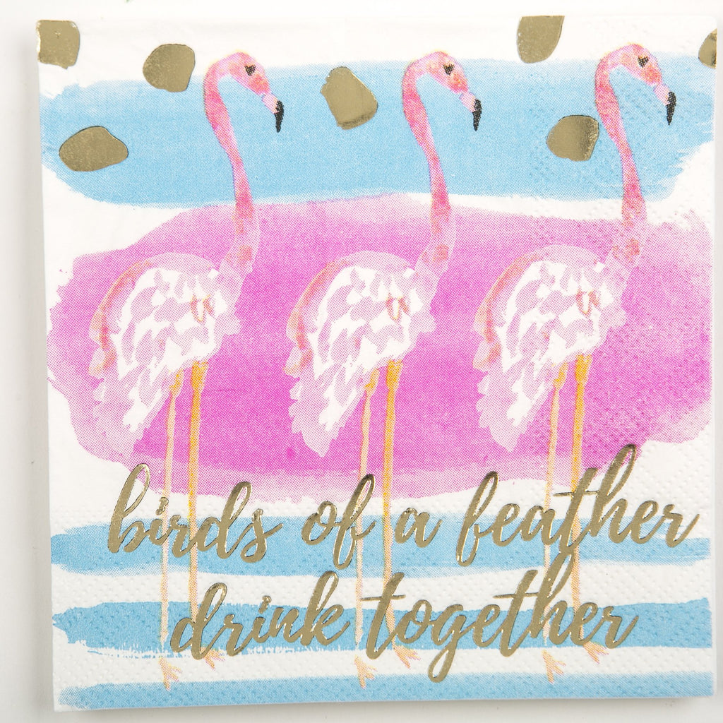 BEVERAGE NAPKINS - DTHY - BIRDS OF A FEATHER