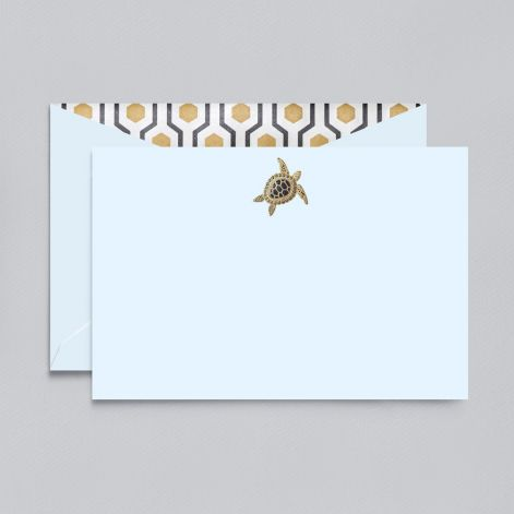 BOXED NOTE CARDS - CCO - SEA TURTLE CARD