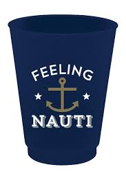 FROST FLEX CUPS - SL - FEELING NAUTI SET OF 8 CUPS 16 OZ