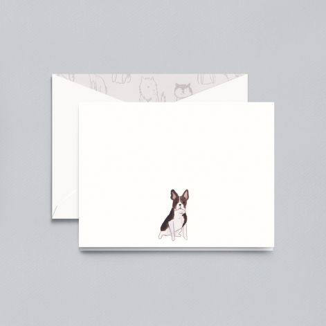 BOXED NOTE CARDS - CCO - FRENCH BULLDOG FOLDOVER