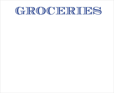 LUXE NOTE PAD - GROCERIES  LARGE PADS