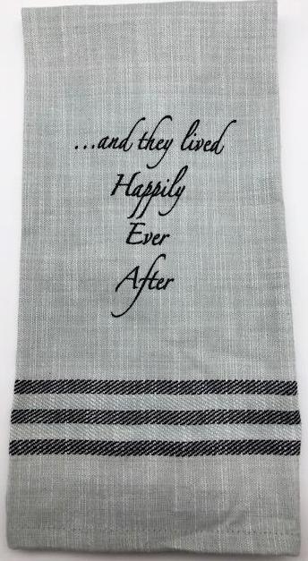 BAR TOWEL - WH - HAPPILY EVER AFTER