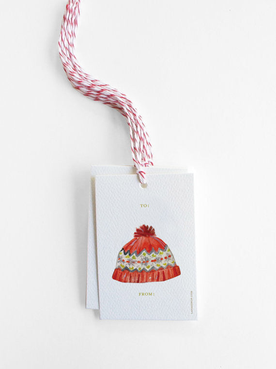 WINTER HAT - GIFT TAGS