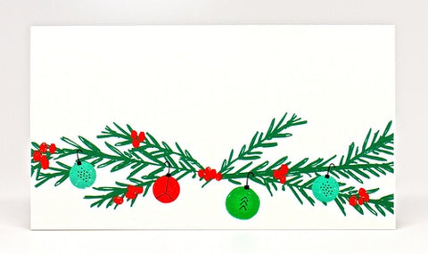 CHRISTMAS PLACE CARDS- MRB - GARLAND