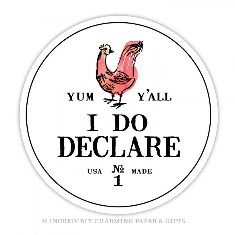 "COASTERS - ICPG -  ""I DO DECLARE"" PACK  OF 15 CARDBOARD"