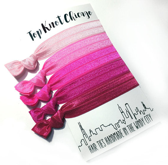 HAIR TIES - TKC - PINK OMBRE