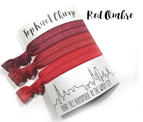 HAIR TIES - TKC - RED OMBRE