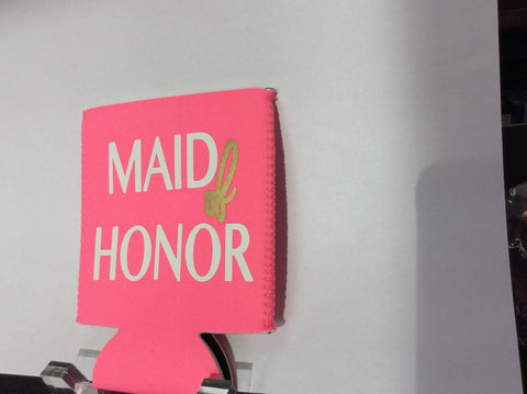 KOOZIE - TPB - PINK MAID OF HONOR