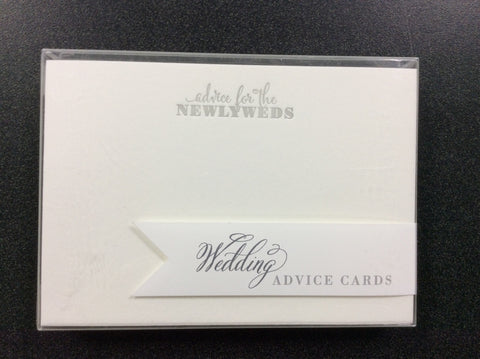 ADVICE CARDS - CBD -  ADVICE FOR THE NEWLYWEDS