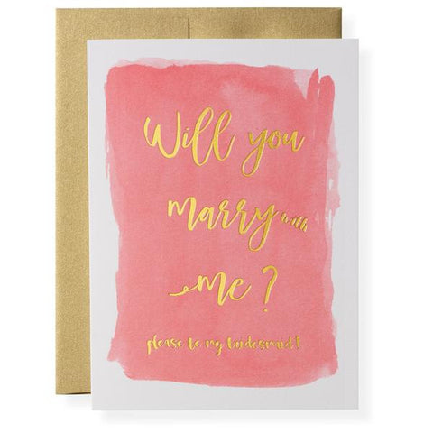 MARRY [WITH] ME - GREETING CARD