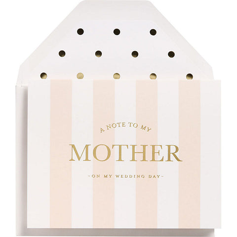 A NOTE TO MY MOTHER - WEDDING CARD