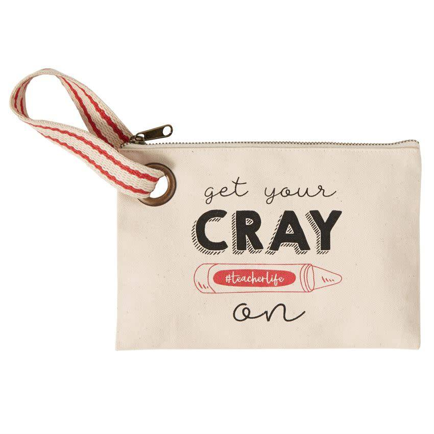 "ZIPPER POUCH - MP - GET YOUR ""CRAY ON"""