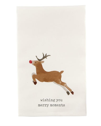 CHRISTMAS KITCHEN TOWEL -MP- WISHING YOU MERRY MOMENTS