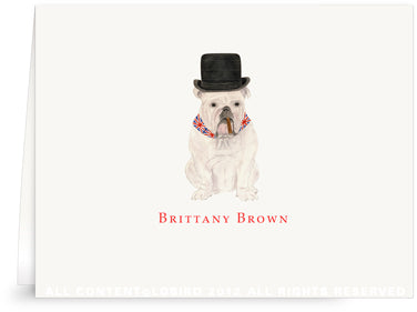 FOLDED NOTE CARD - LB - ENGLISH BULLDOG