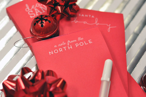 CHRISTMAS NOTE PAD - HP- A NOTE FROM THE NORTH POLE