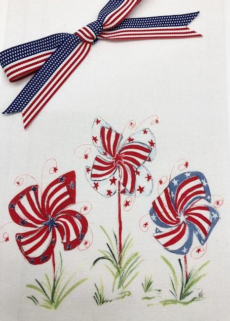 KITCHEN TOWEL - DBB - PATRIOTIC PIN WHEELS