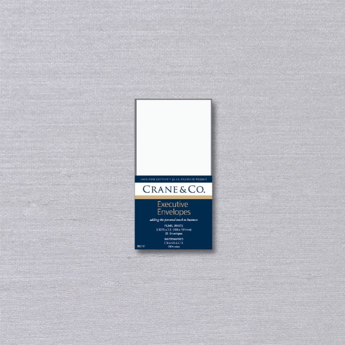 CRANE'S ENVELOPES - 32 LB PEARL WHITE KID FINISH-EXECUTIVE