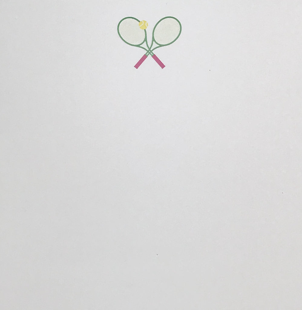 NOTEPAD - BFS - TENNIS - PINK AND GREEN