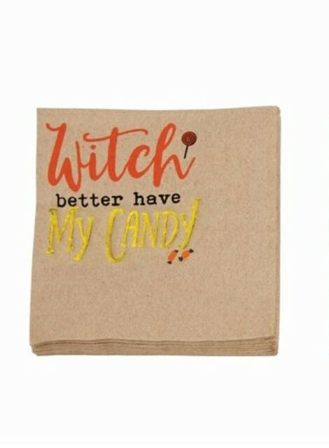 HALLOWEEN BEVERAGE NAPKIN -MP-WITCH- BETTER HAVE MY CANDY
