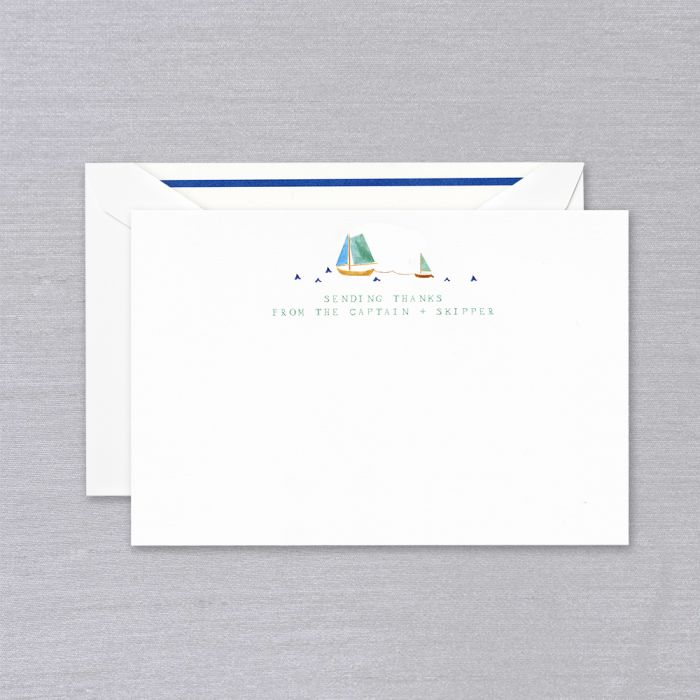 BOXED NOTE CARDS - CCO - SENDING THANKS FROM THE CAPTAIN AND SKIPPER