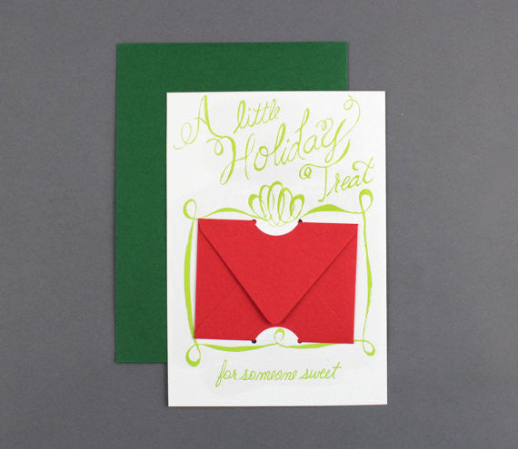 CHRISTMAS GIFT CARD - CBD - A LITTLE HOLIDAY TREAT LETTERPRESSED