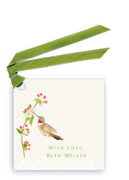 RUBY THROATED HUMMINGBIRD - GIFT TAG SET
