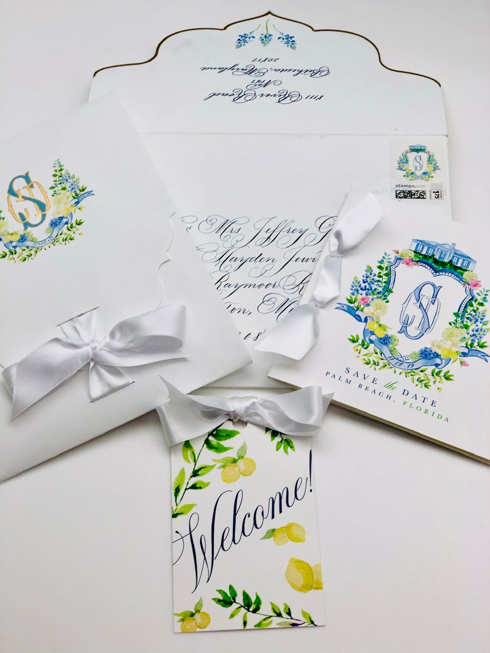 CUSTOM WEDDING PAPERIE ENGRAVED/LETTERPRESSED