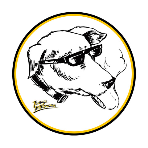 TM Smoking Dog Sticker