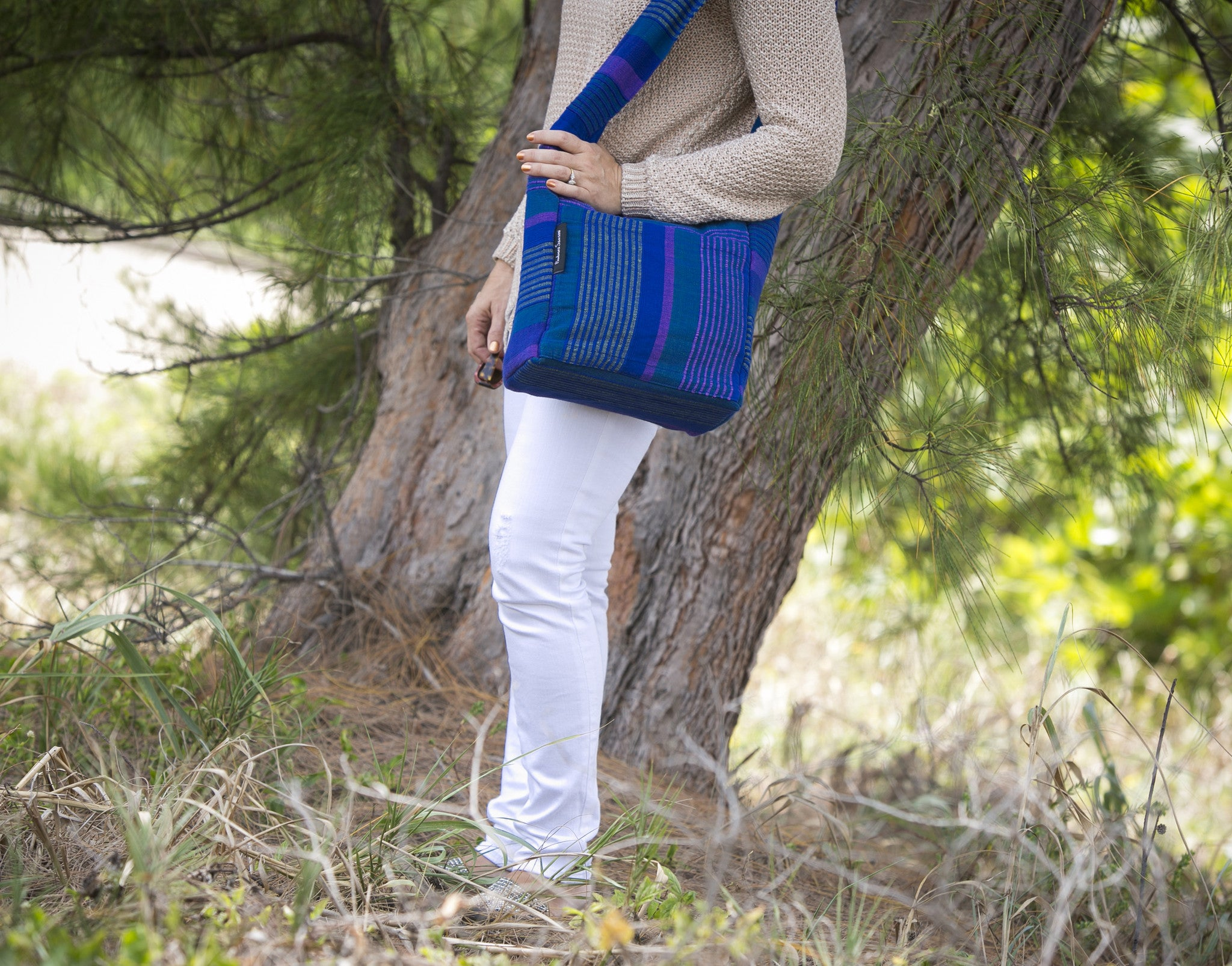 The Versatile Shoulder Bag - Great to carry as a handbag! (Dreamcatcher fabric shown in medium size)