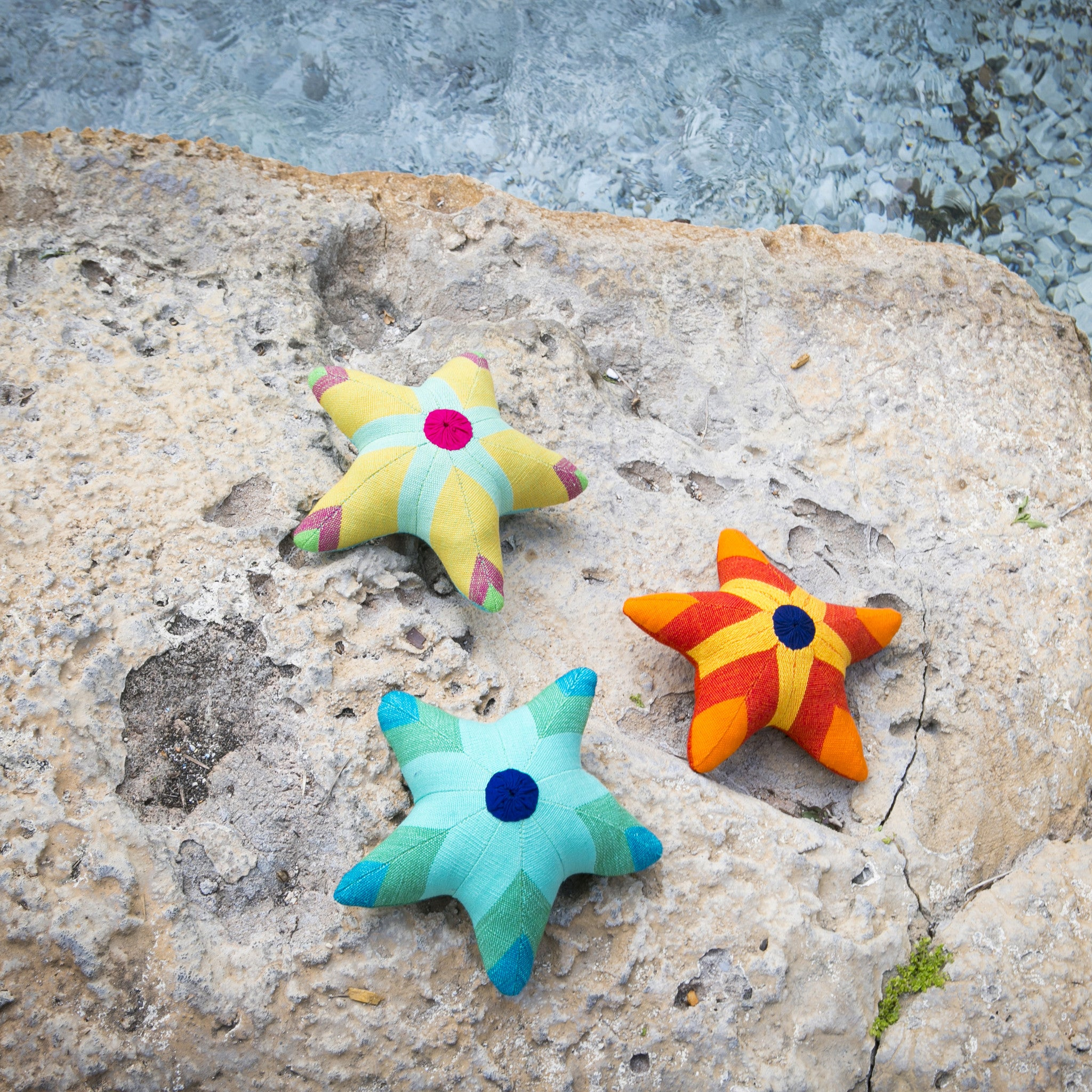 Summer (pastel shades) & Scully, the Starfish – Enjoying a day in the sun!