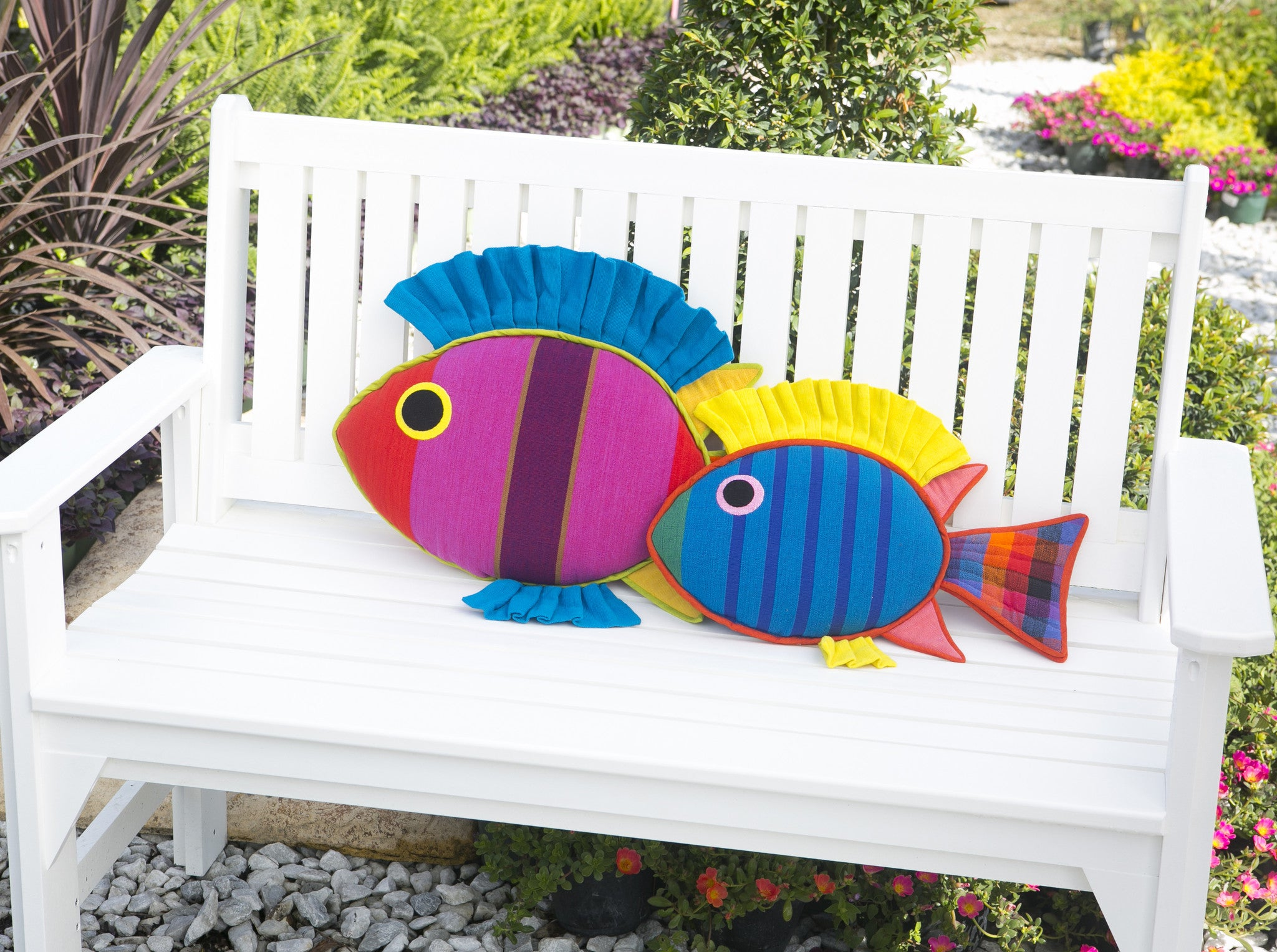 The Rabbit Fish – Adding the perfect punch of color! (Mindy shown in large size & Sammy in small size)