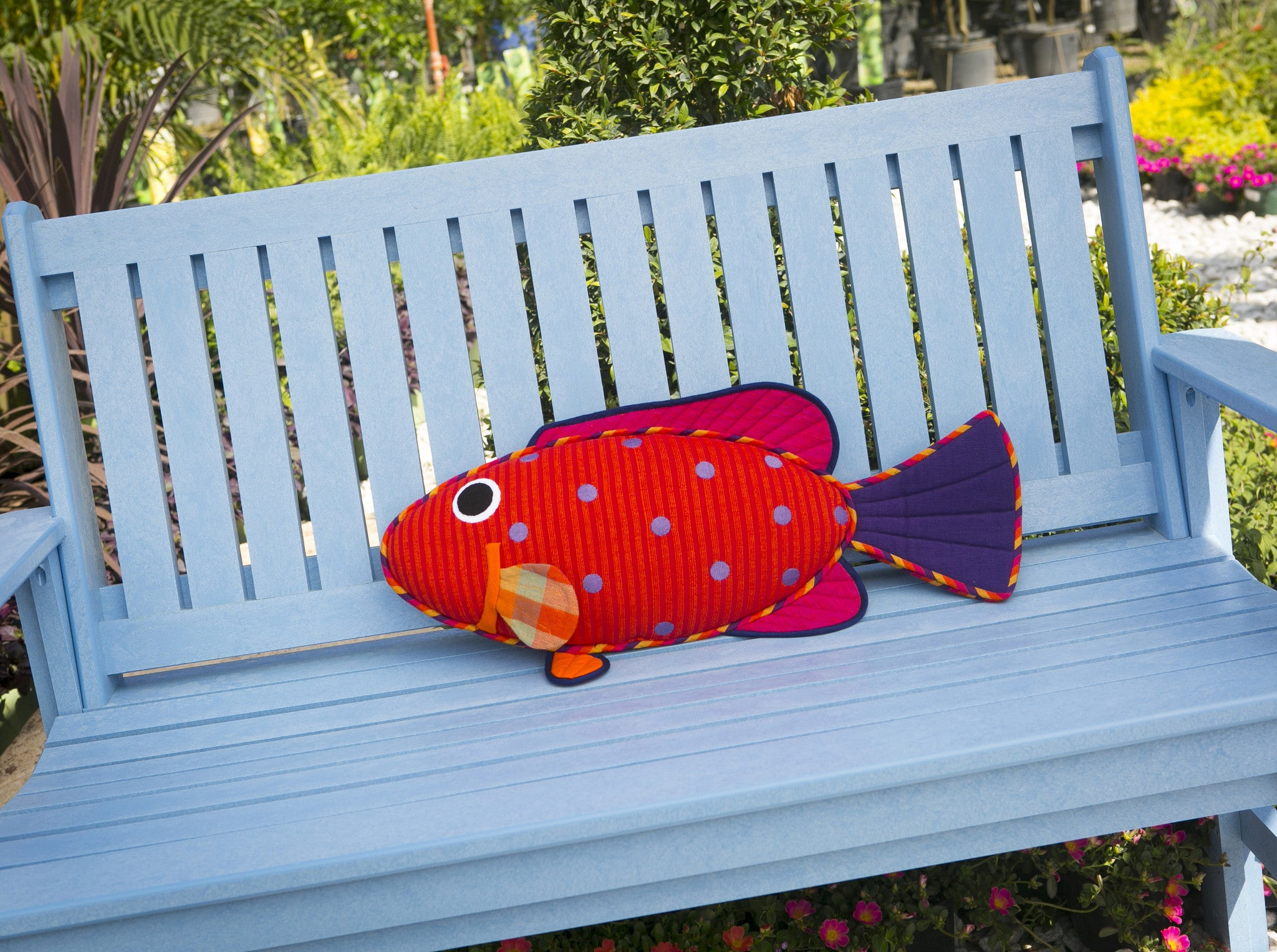 Emma, the Vermillion Rock Cod – Relaxing on the bench! (large size)