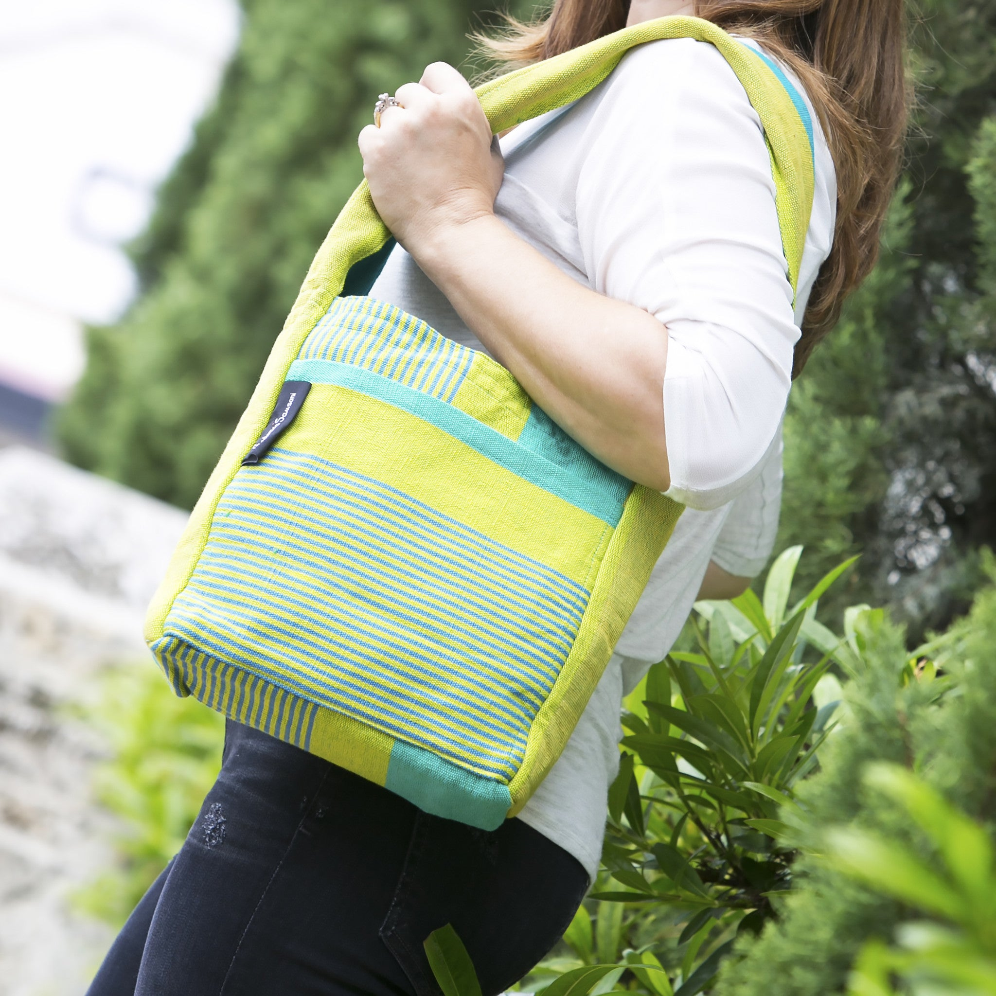 The Versatile Shoulder Bag - Great for a day of shopping! (Lemongrass fabric shown in small size)