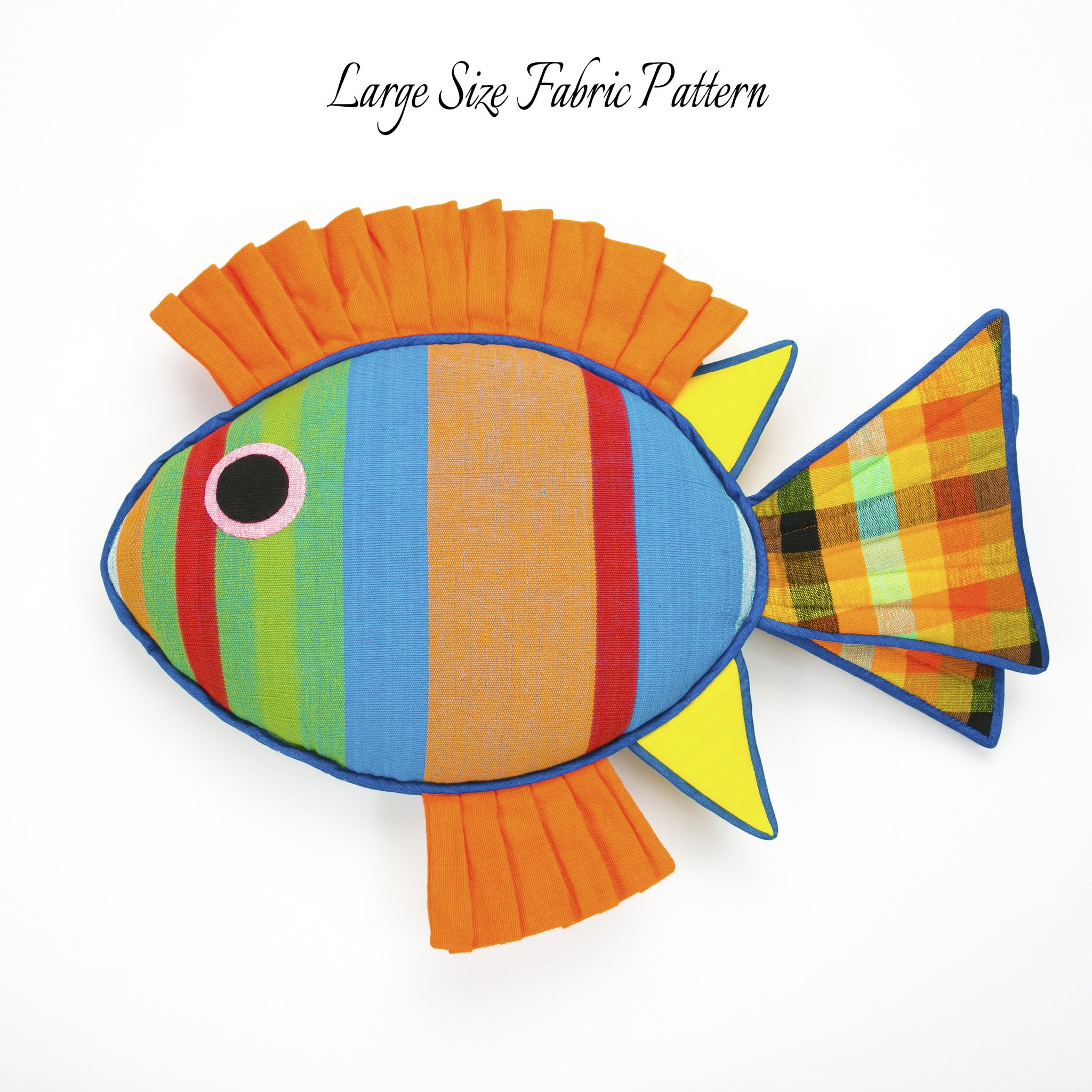 Levi, the Rabbit Fish – large size fabric pattern shown