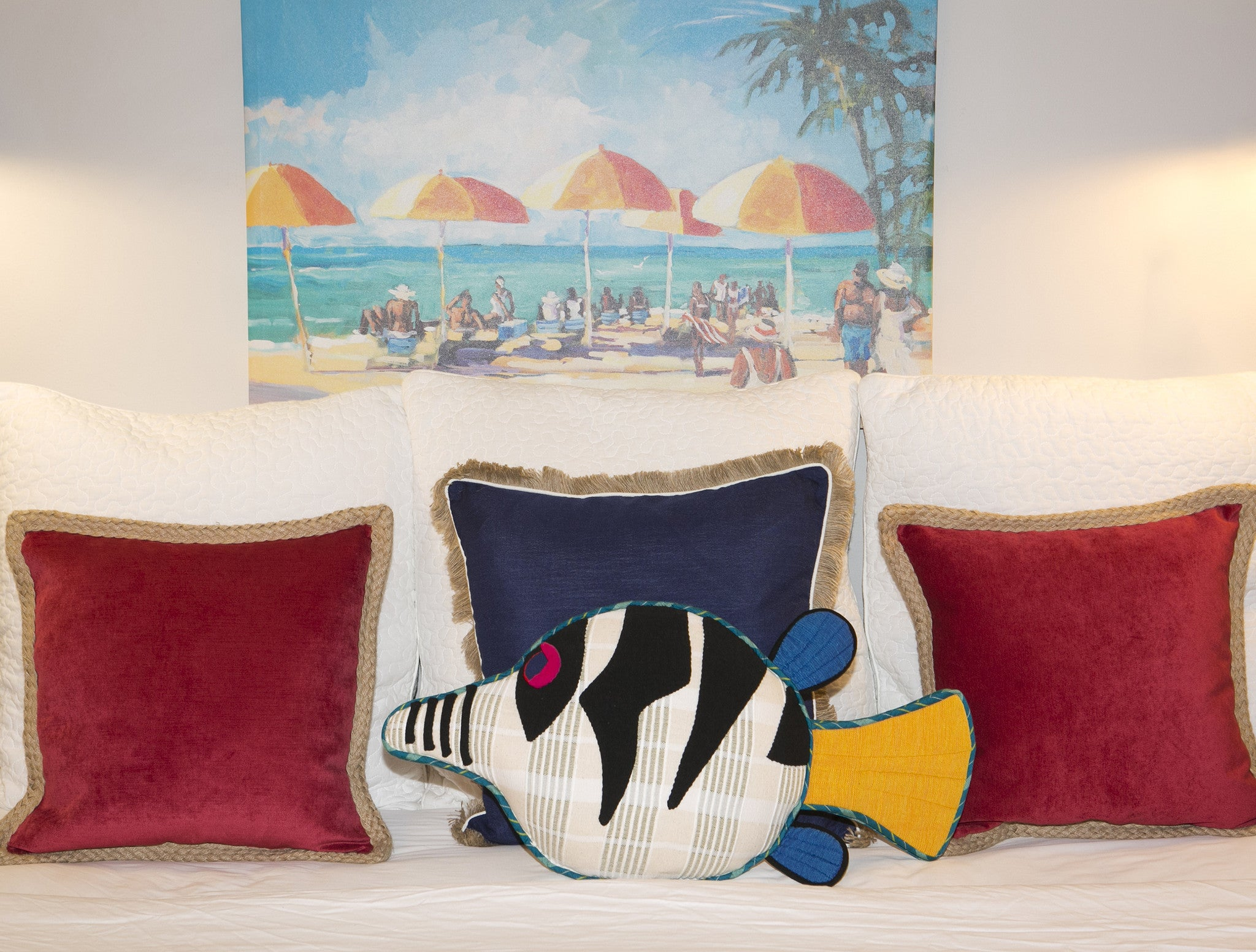 Flash, the Sharpnosed Puffer Fish – Perfect accent pillow for the bed! (large size)