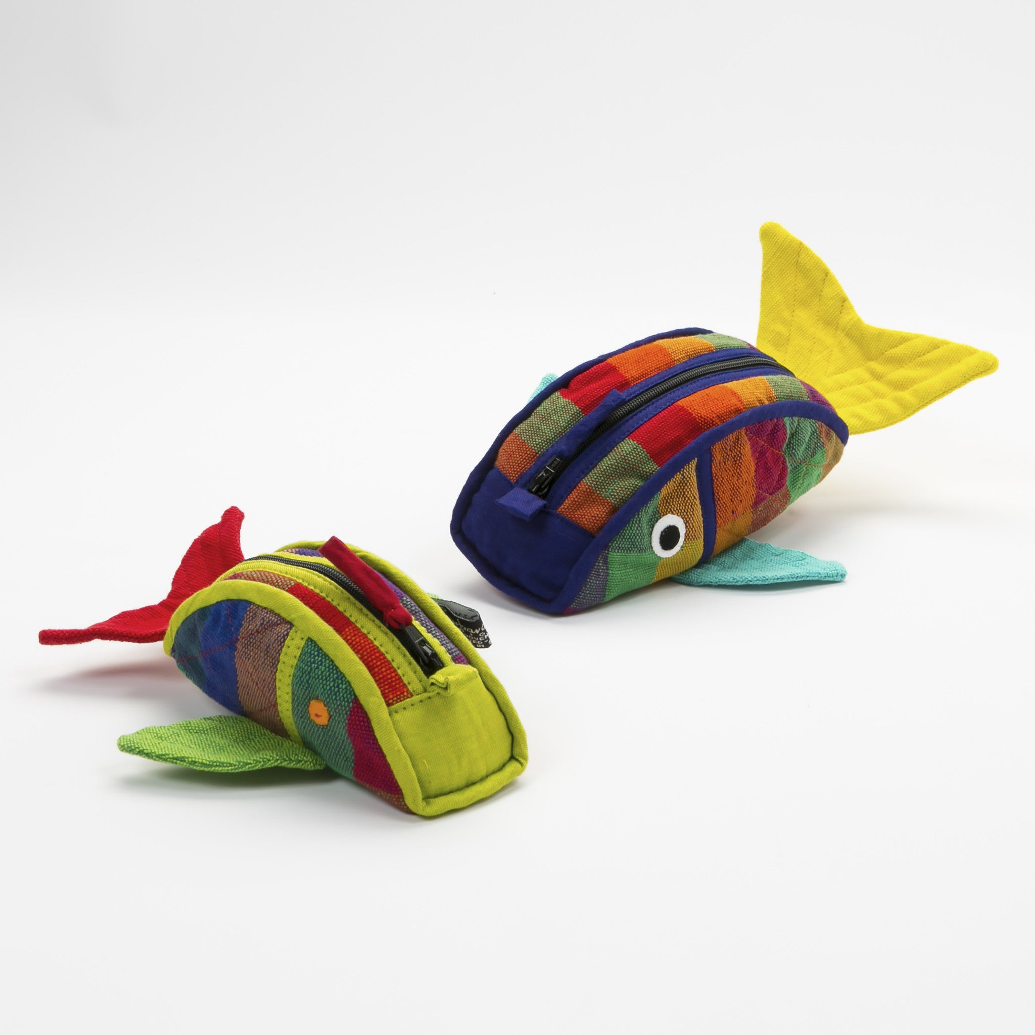 Fish Zip Pouch - Carousel fabric shown (small & medium sizes)