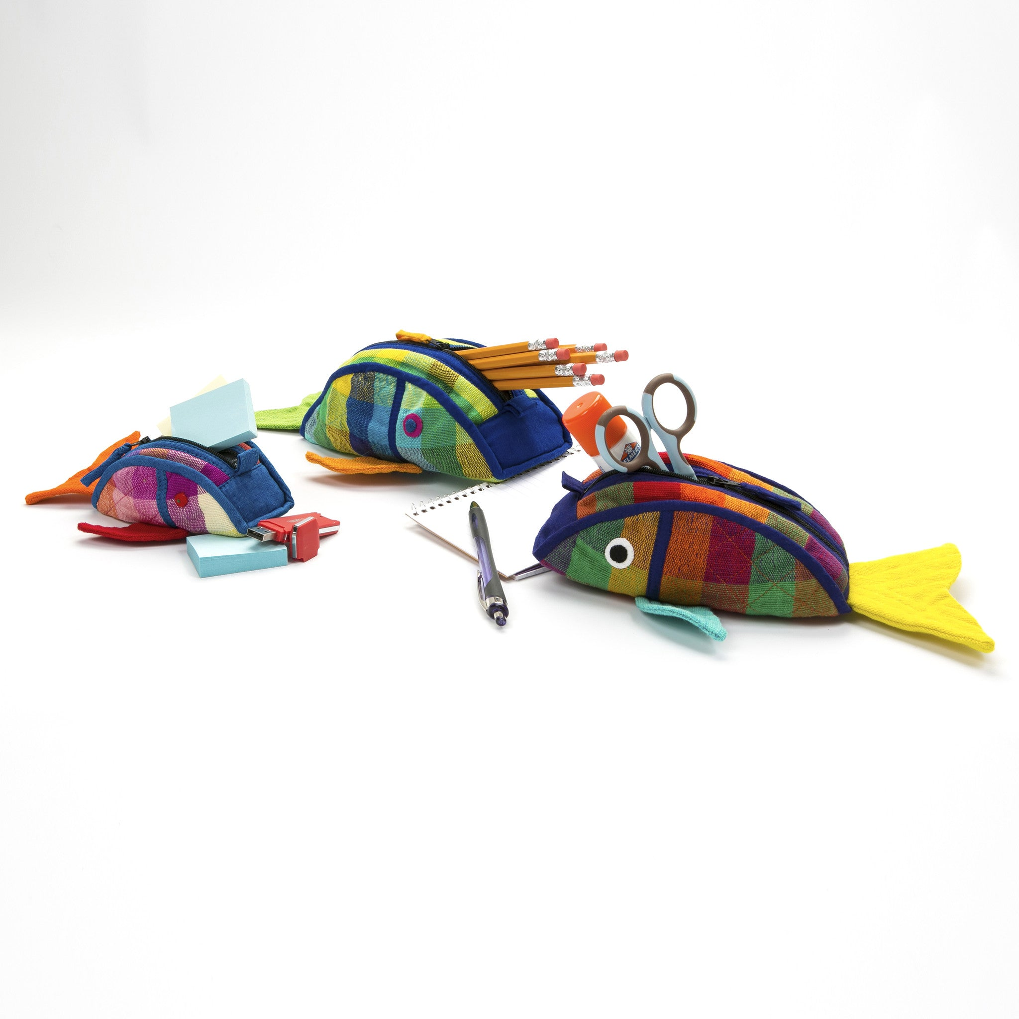 Fish Zip Pouch - Great for carrying school supplies! (sample fabric shown in small, medium, & large sizes)
