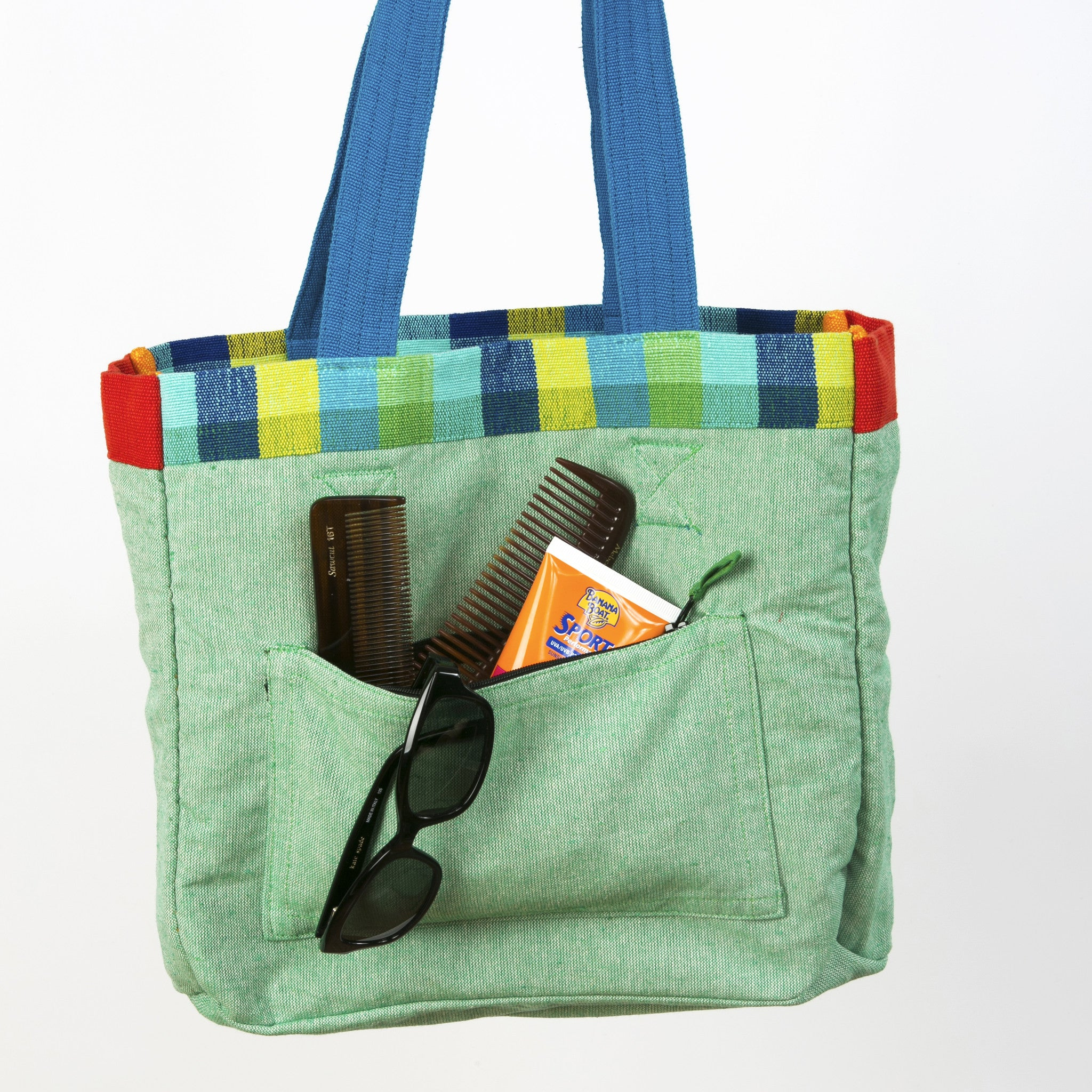 The Easy Breezy Tote - Inside view (sample fabric shown)