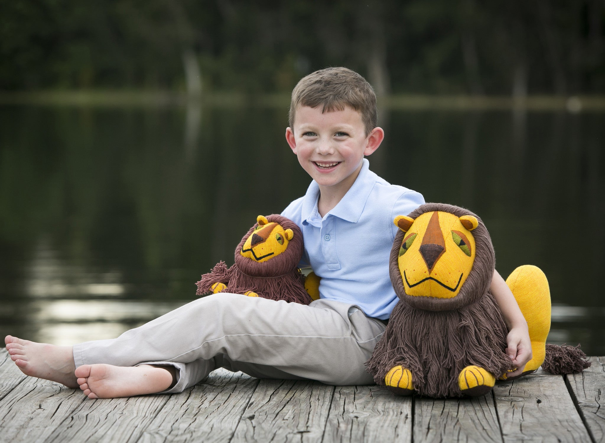 Leo, the Lion will bring endless smiles! (shown in small & large sizes)