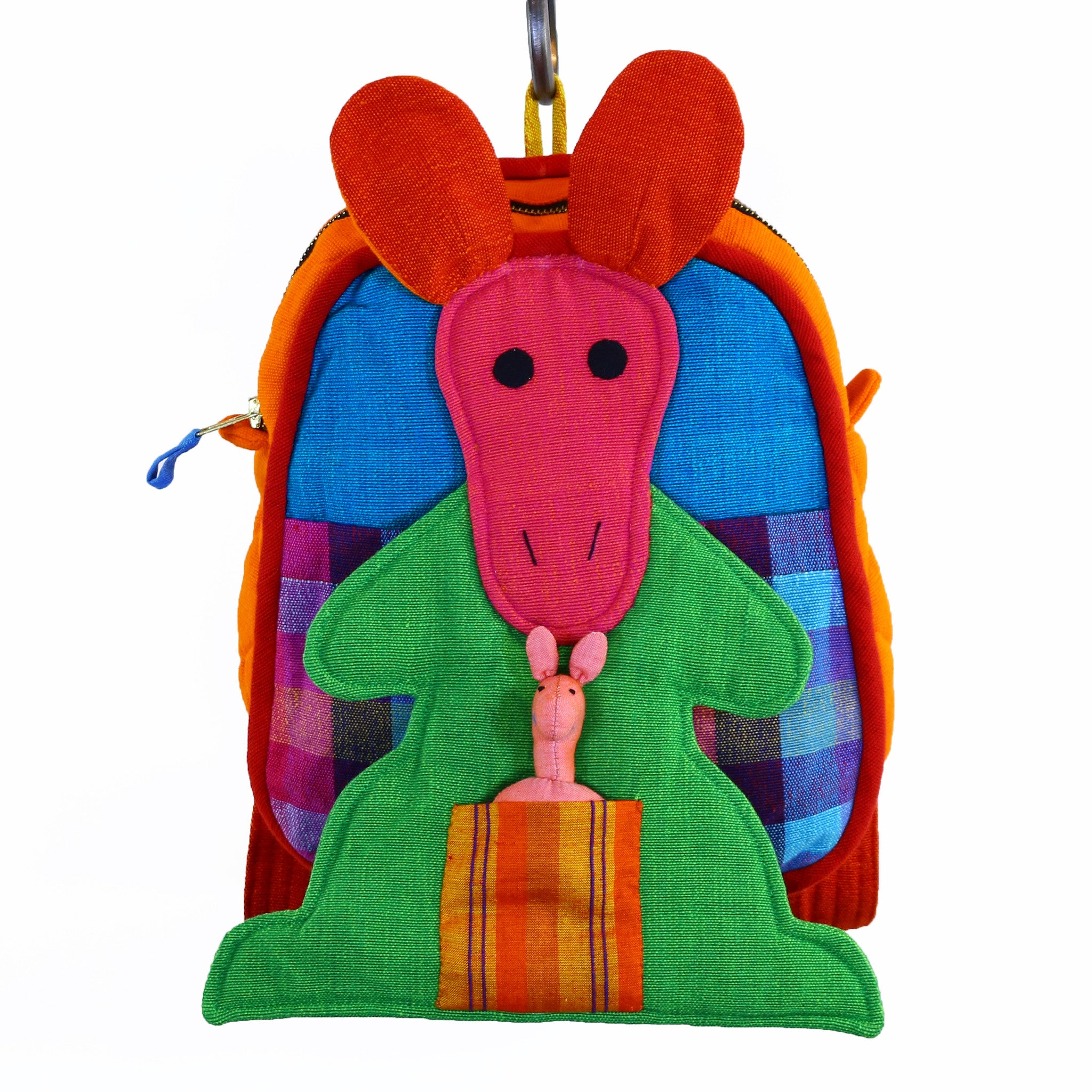 Kangaroo Backpack – Aquamarine fabric